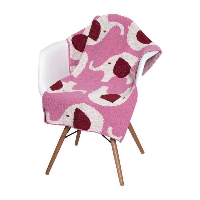 Elephant Baby Blanket, Pink