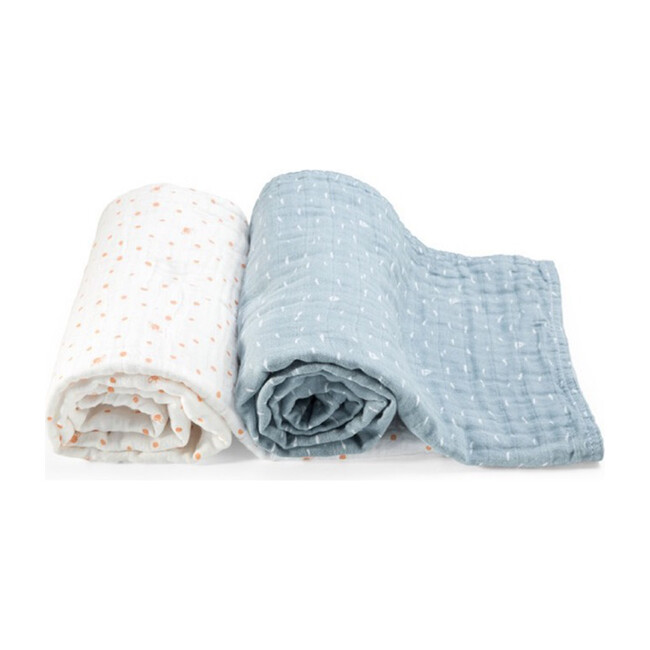Stokke® Blanket Organic Muslin, Blue Slate Sea