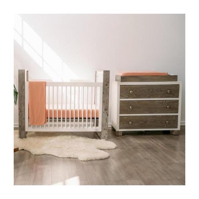 3 Piece Organic Knit Nursery Bedding Set, Prickly Pear