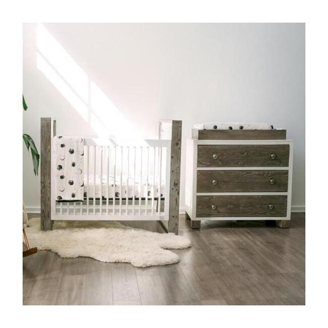 3 Piece Organic Knit Nursery Bedding Set, Many Moons
