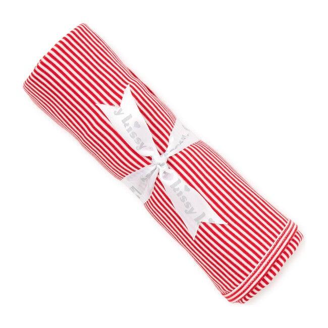 Essentials Striped Blanket, Red