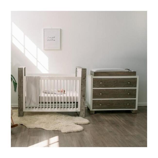 3 Piece Organic Knit Nursery Bedding Set, Desert Mist