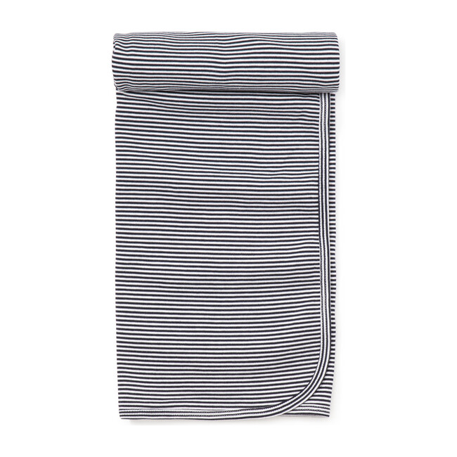 Essentials Striped Blanket, Navy