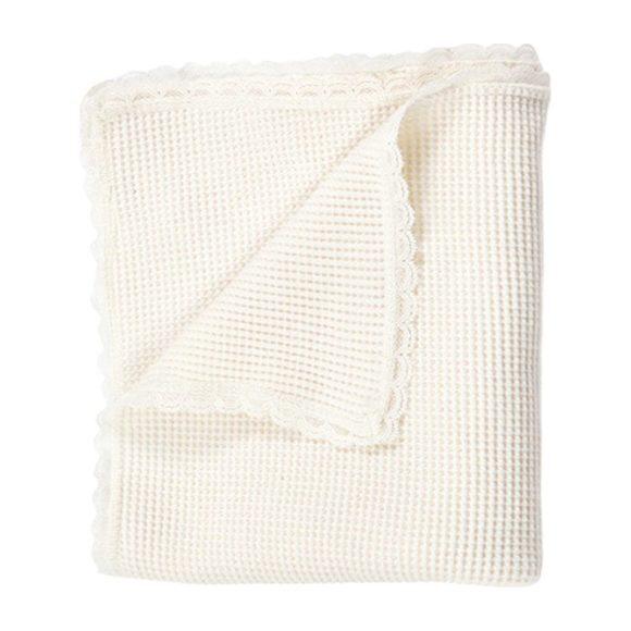 Organic Waffle Knit Cotton Newborn Blanket