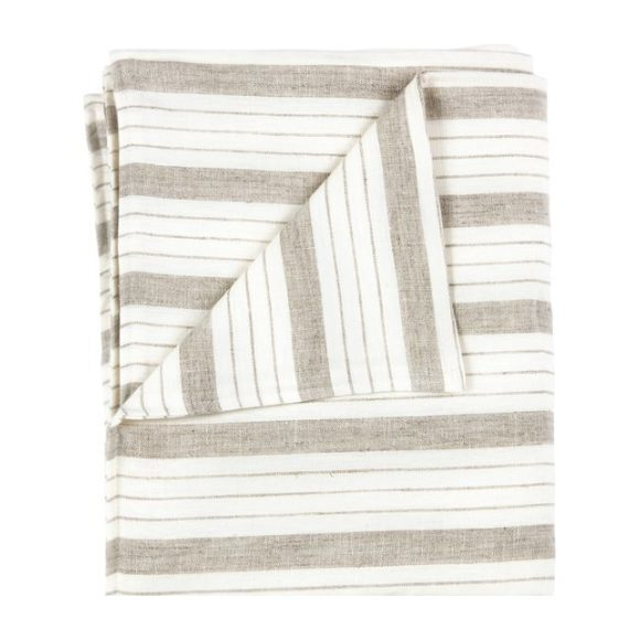 Large Blanket in Striped Linen