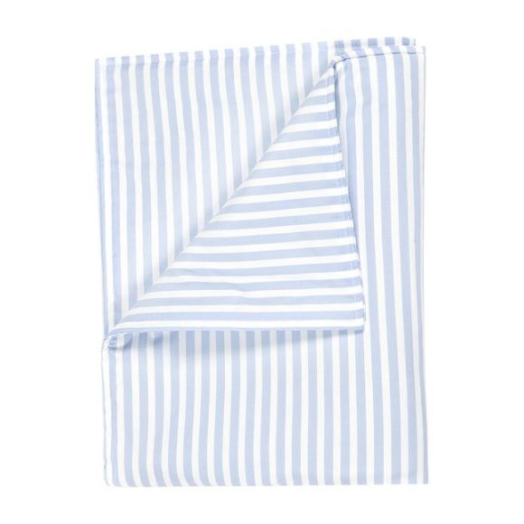 Large Blanket in Blue/White Striped Cotton
