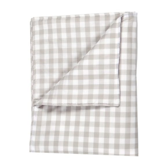 Large Blanket in Beige Gingham Cotton
