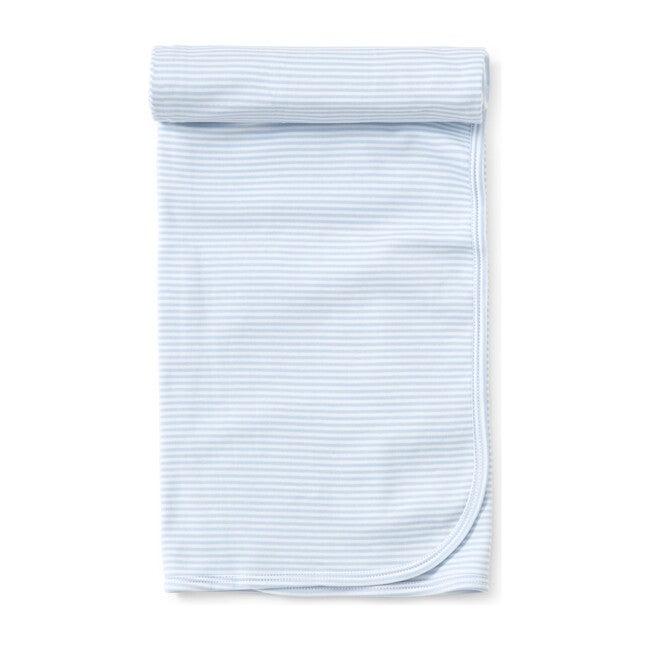 Simple Stripe Blanket, Blue