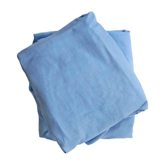 Crib Sheet in Blue Linen