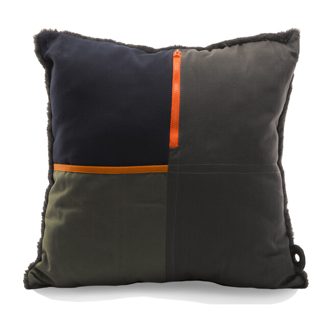 """""""Artist"""" Storage Pillow, Olive/Charcoal"""