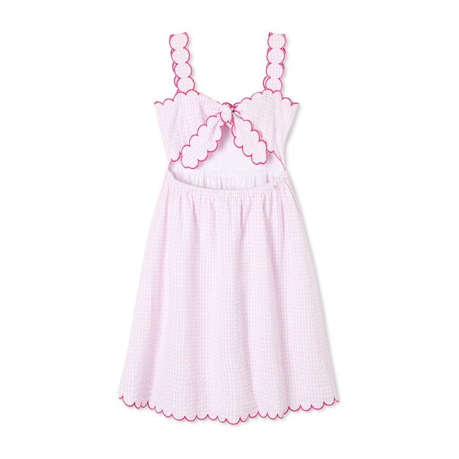 Quinn Dress, Pink Searsucker