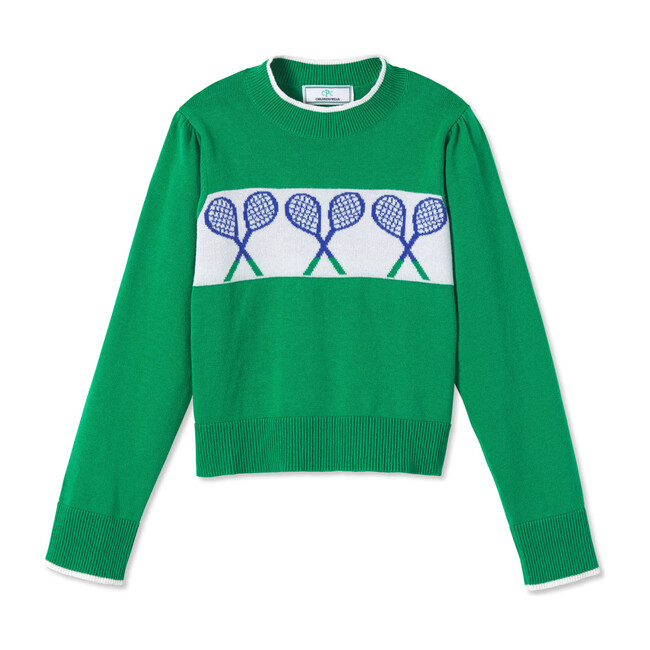 Darby Tennis Sweater, Blarney Green