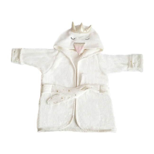 Baby Bath Robe, Swan - Robes - 1 - zoom