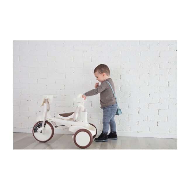 3-in-1 Folding Tricycle, Gentle White