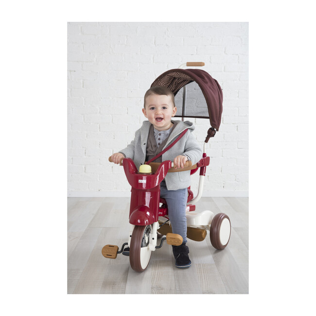 3-in-1 Folding Tricycle, Eternity Red