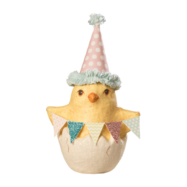 Paper Mache Spring Party Chick in Egg