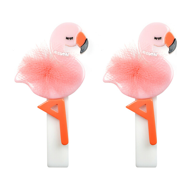 Flamingo Alligator Clips, Pink