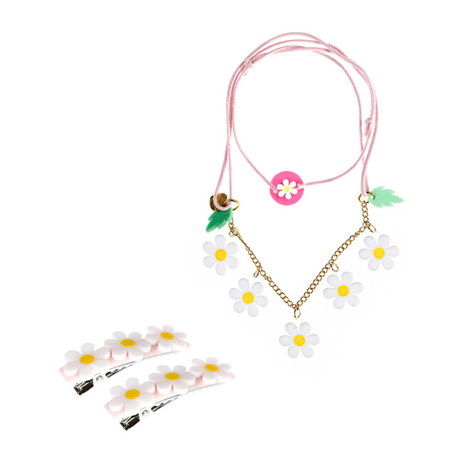 Daisy Necklace and Hair Clips Bundle