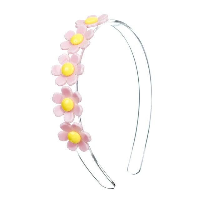 Centipede Daisy Headband, Light Pink
