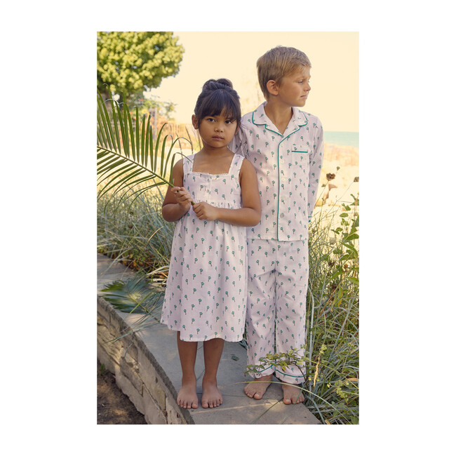 Kids Pajama Set, Palmier