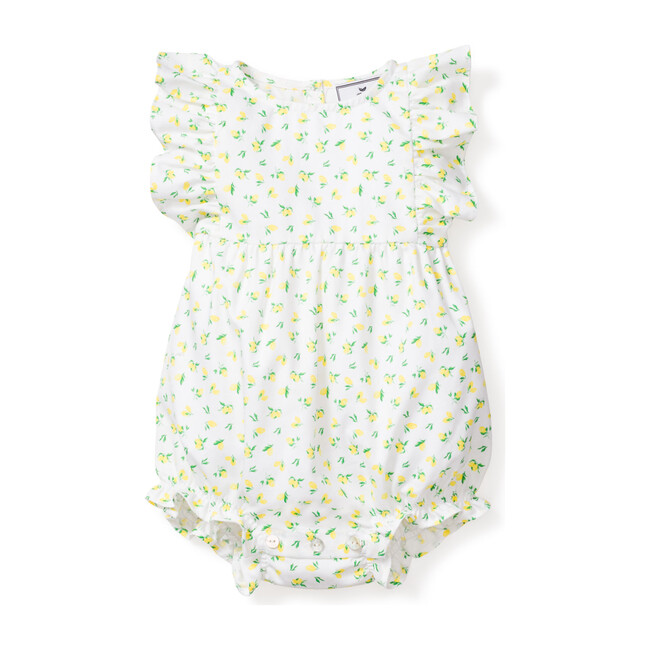 Infant Ruffled Romper, Citron