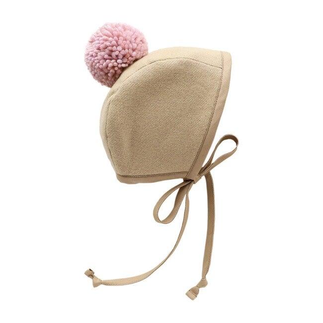 Chestnut Sherpa-Lined Pom Bonnet