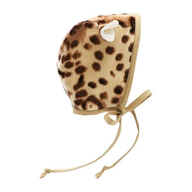 Cheetah Velvet Bonnet