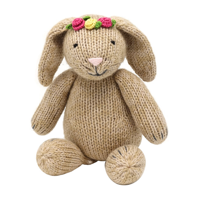 Brown Bunny with Flowers