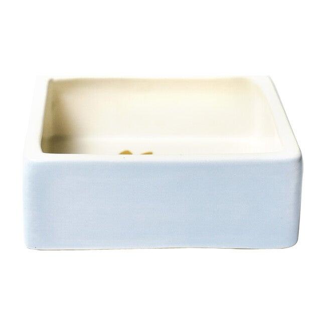 Rabbit Square Trinket Bowl, Smoke