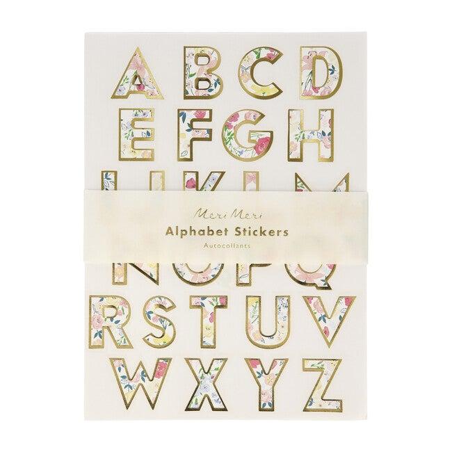English Garden Alphabet Sticker Sheets
