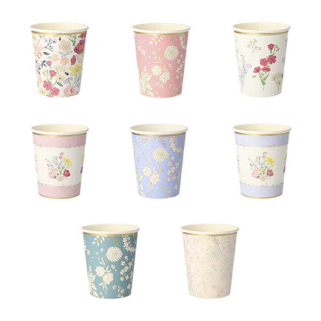 English Garden Party Cups