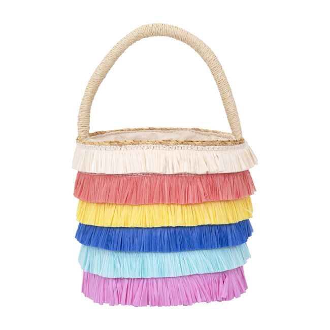 Raffia Fringed Woven Straw Bag