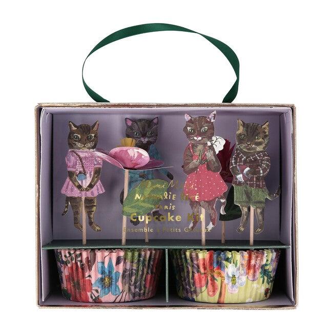 Nathalie Lete Flora Cat Cupcake Kit