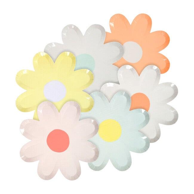 Pastel Daisy Plates