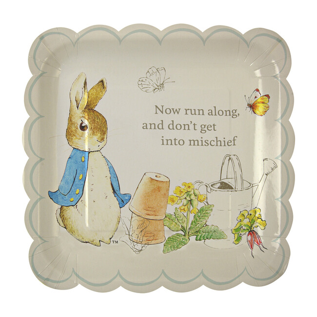 Peter Rabbit Scallop-Edge Plates, Large