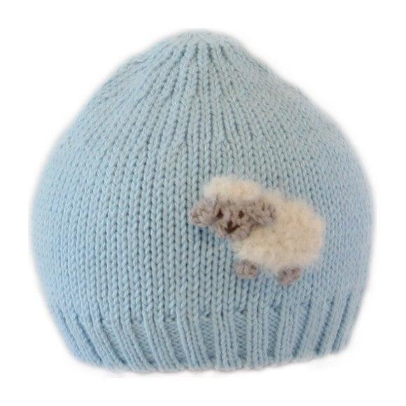 Crochet Sheep Hat, Blue