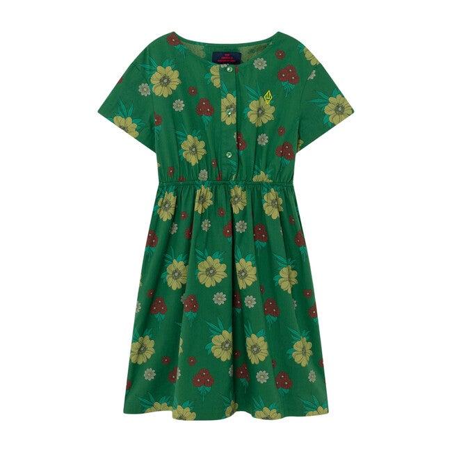 Dolphin Dress, Green Flowers - Dresses - 1