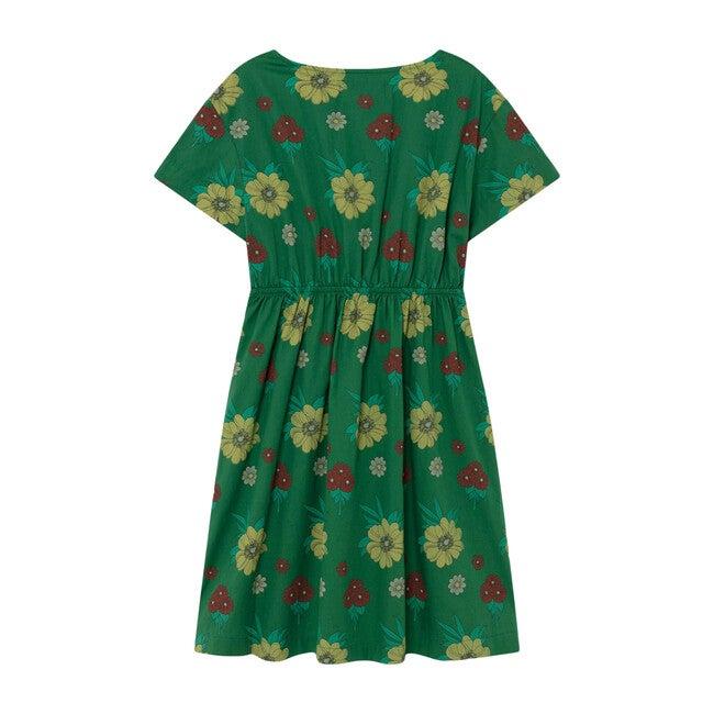 Dolphin Dress, Green Flowers