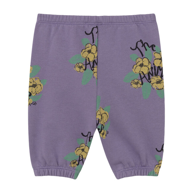 Dromedary Baby Trousers, Purple Flowers