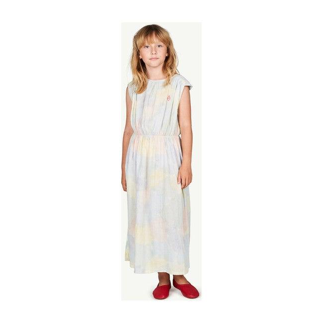 Marten Dress, Multicolor Watercolor