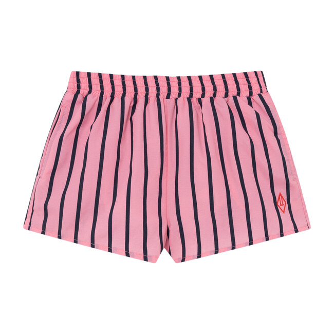 Puppy Swimsuit, Pink Stripes