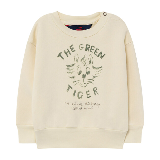 Bear Baby Sweatshirt, White Tiger