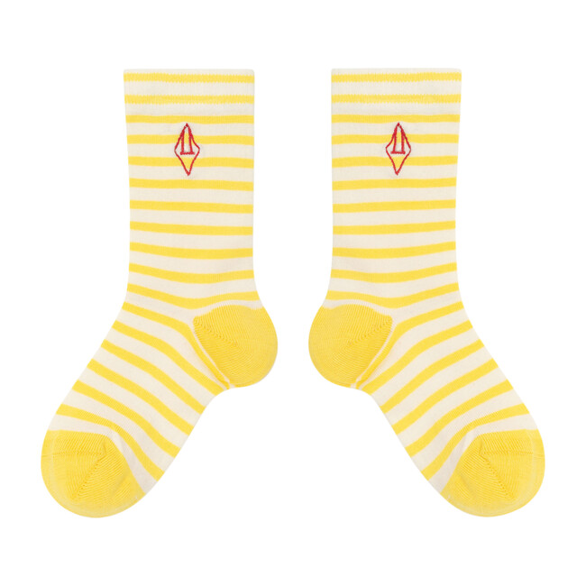 Snail Socks, Yellow Logo