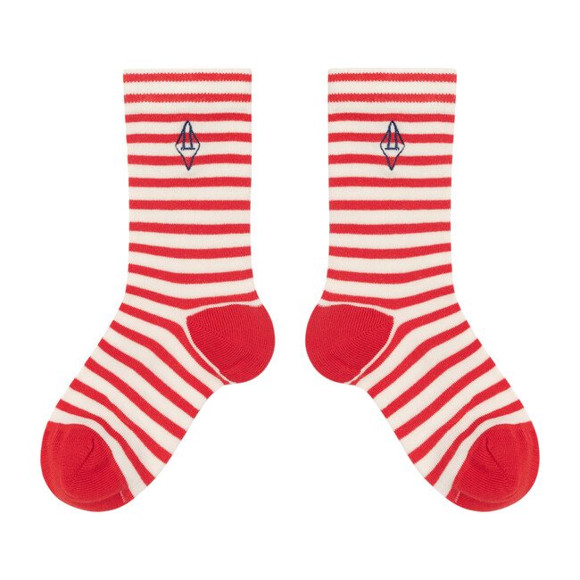 Snail Socks, Red Logo