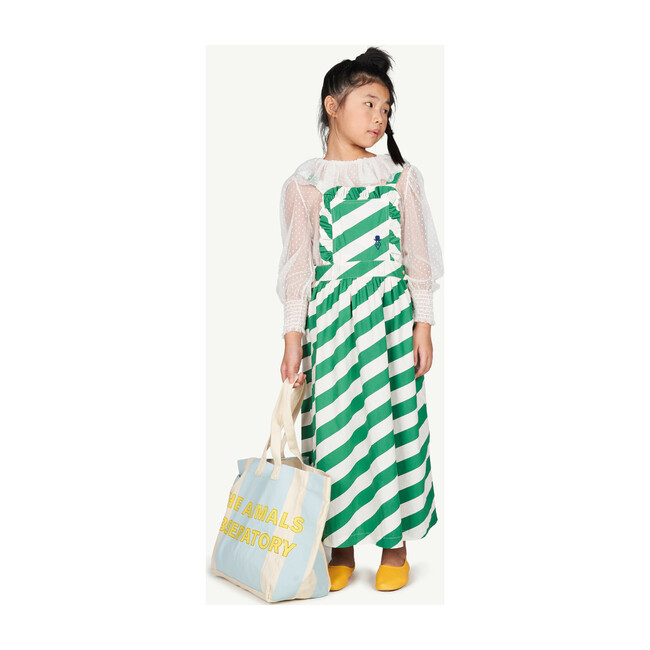 Twill Tote Bag, White Stripes