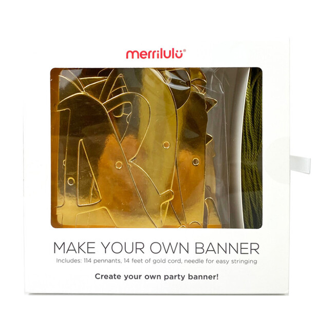 Make Your Own Banner in Gold