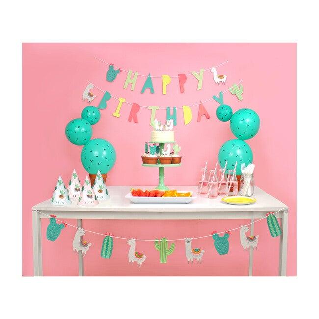 Llama and Cactus Birthday Party Decoration Kit