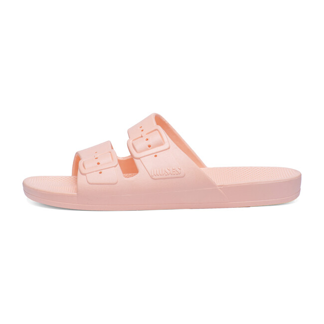 Moses Two Band Slide, Baby Pink