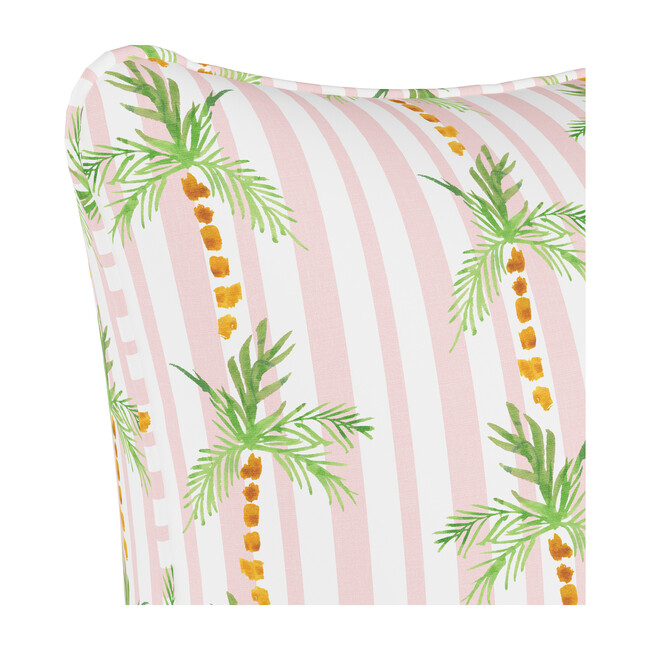 Pillow, Palm Tree Stripe Pink