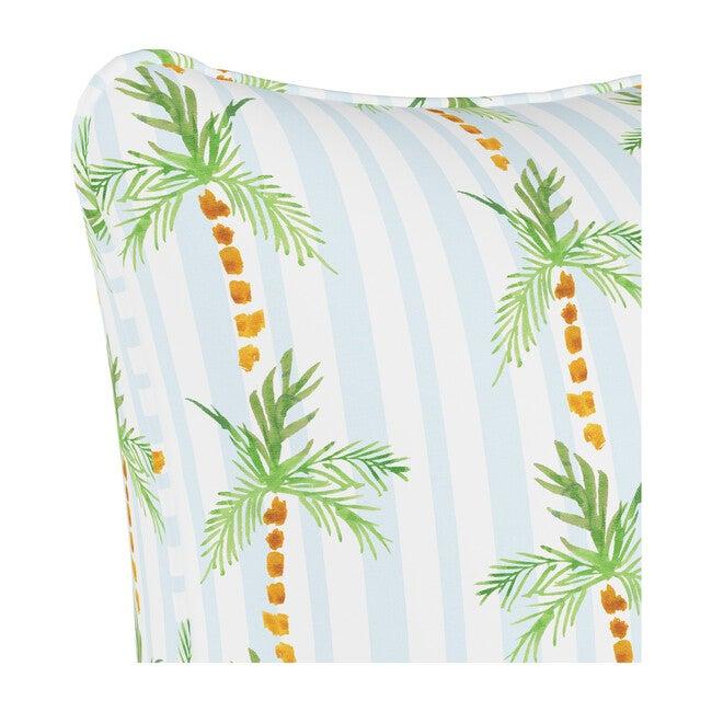 Pillow, Palm Tree Stripe Blue